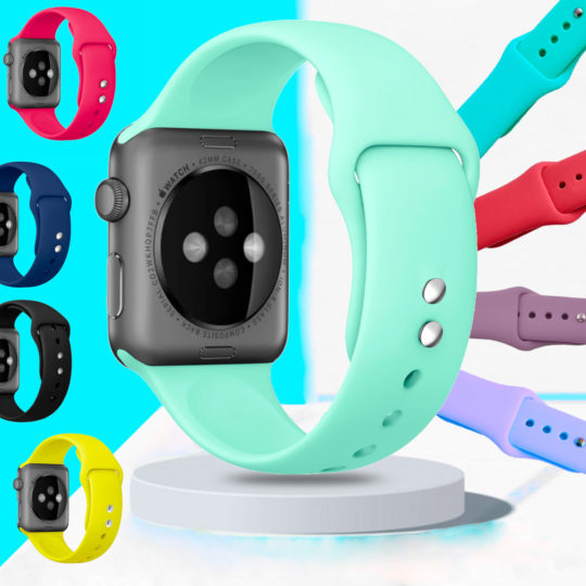 Double Buckle Classic Silicone Apple Watch Band