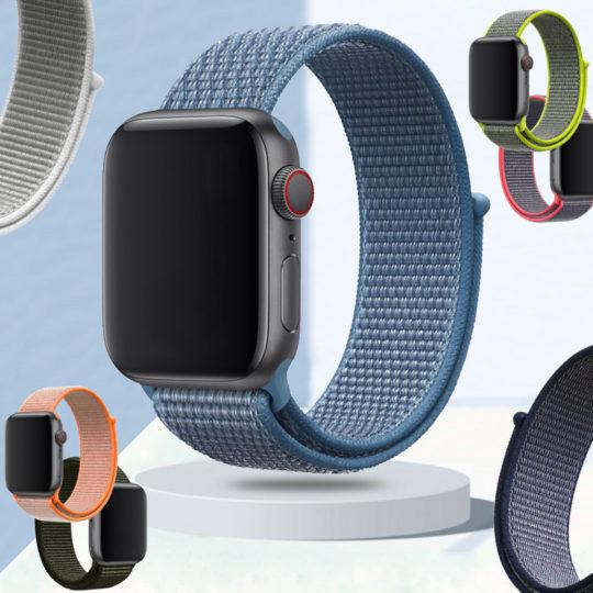 Nylon Hook-and-Loop Apple Watch Band